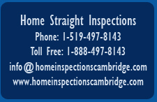 Home Straight Inspections, Cambridge, Ontario and surrounding area